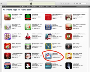 "iTunes results for ""santa scan"""